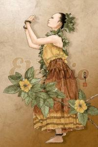 Hula Girl with Ilima