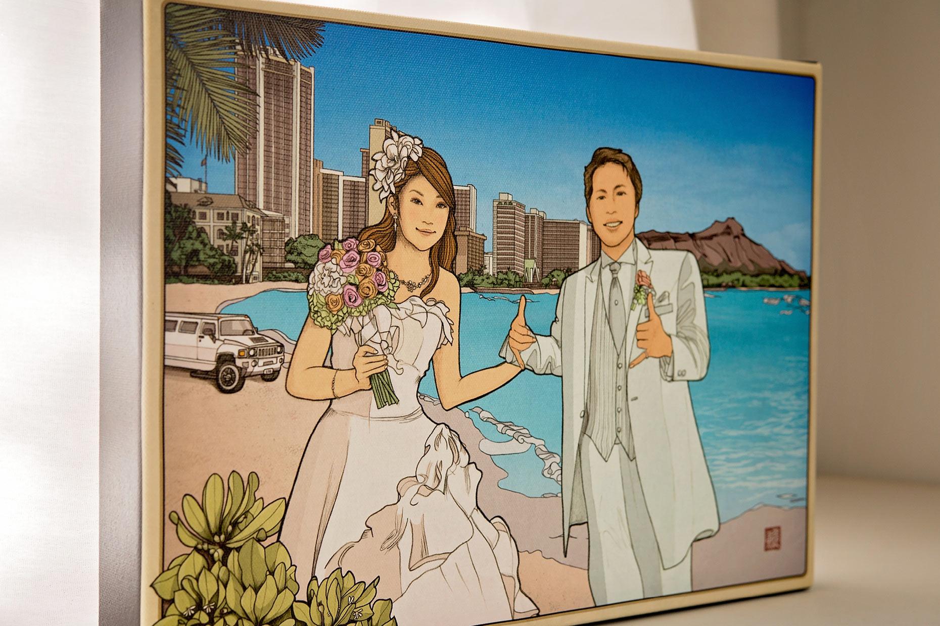 Hawaii wedding welcome board