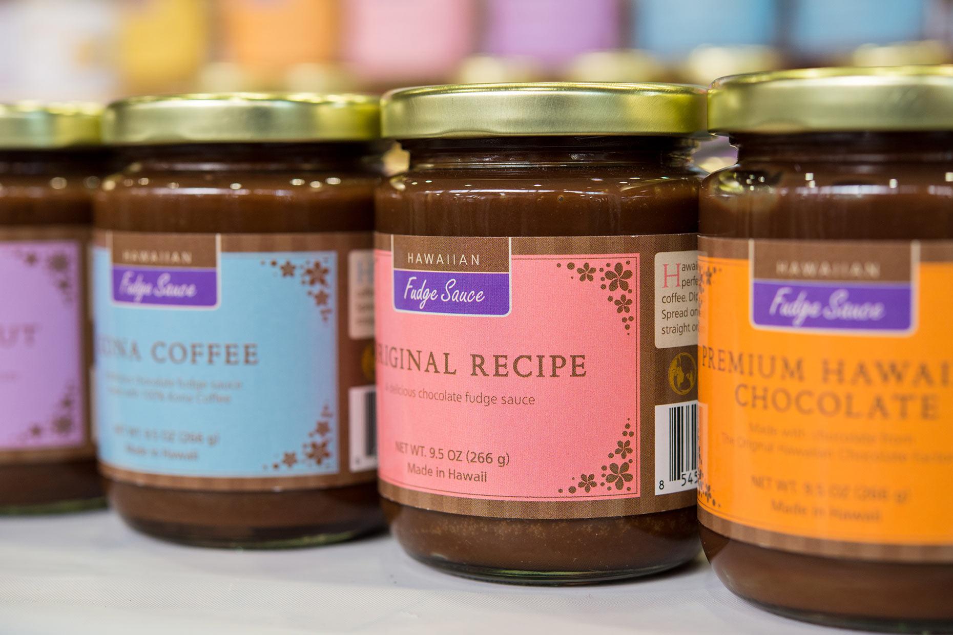 Hawaiian Fudge Sauce label