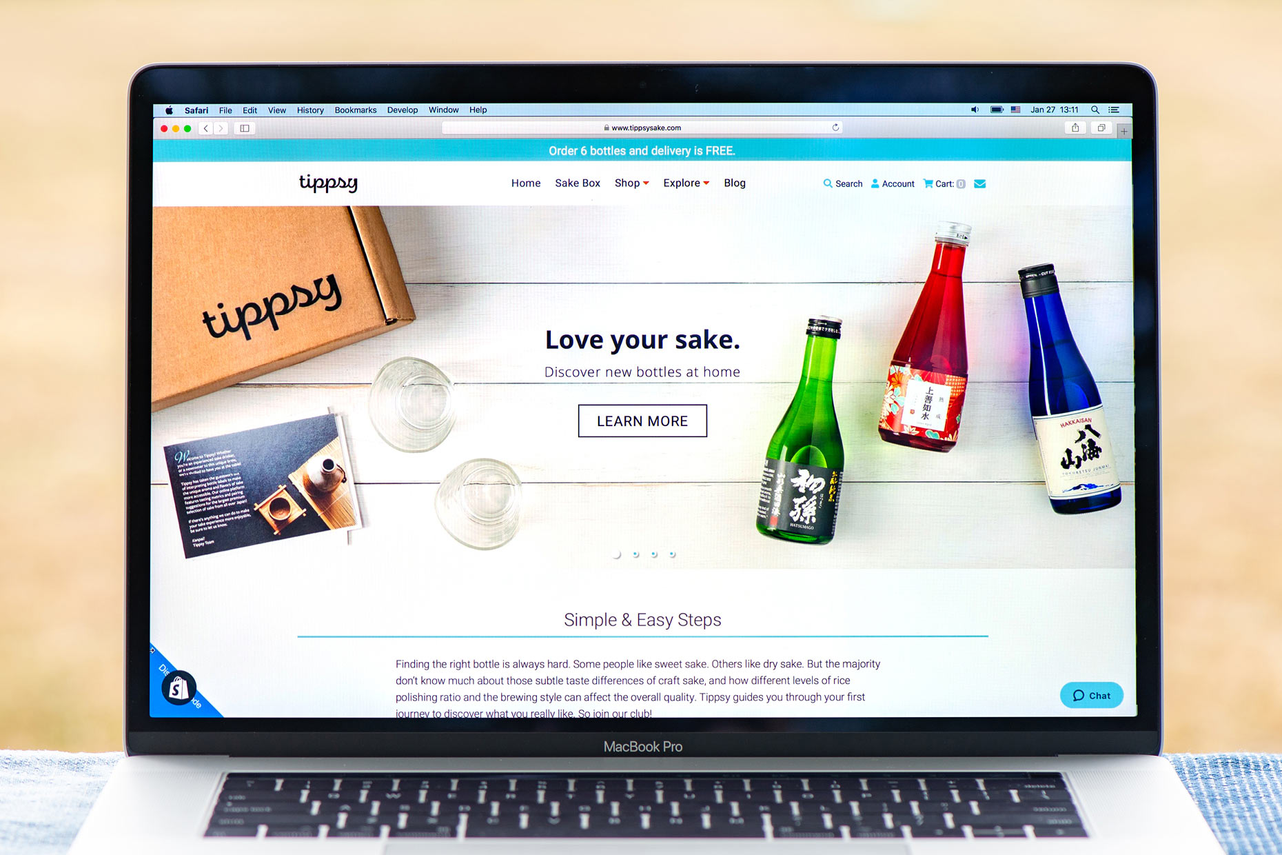 Tippsy Sake website