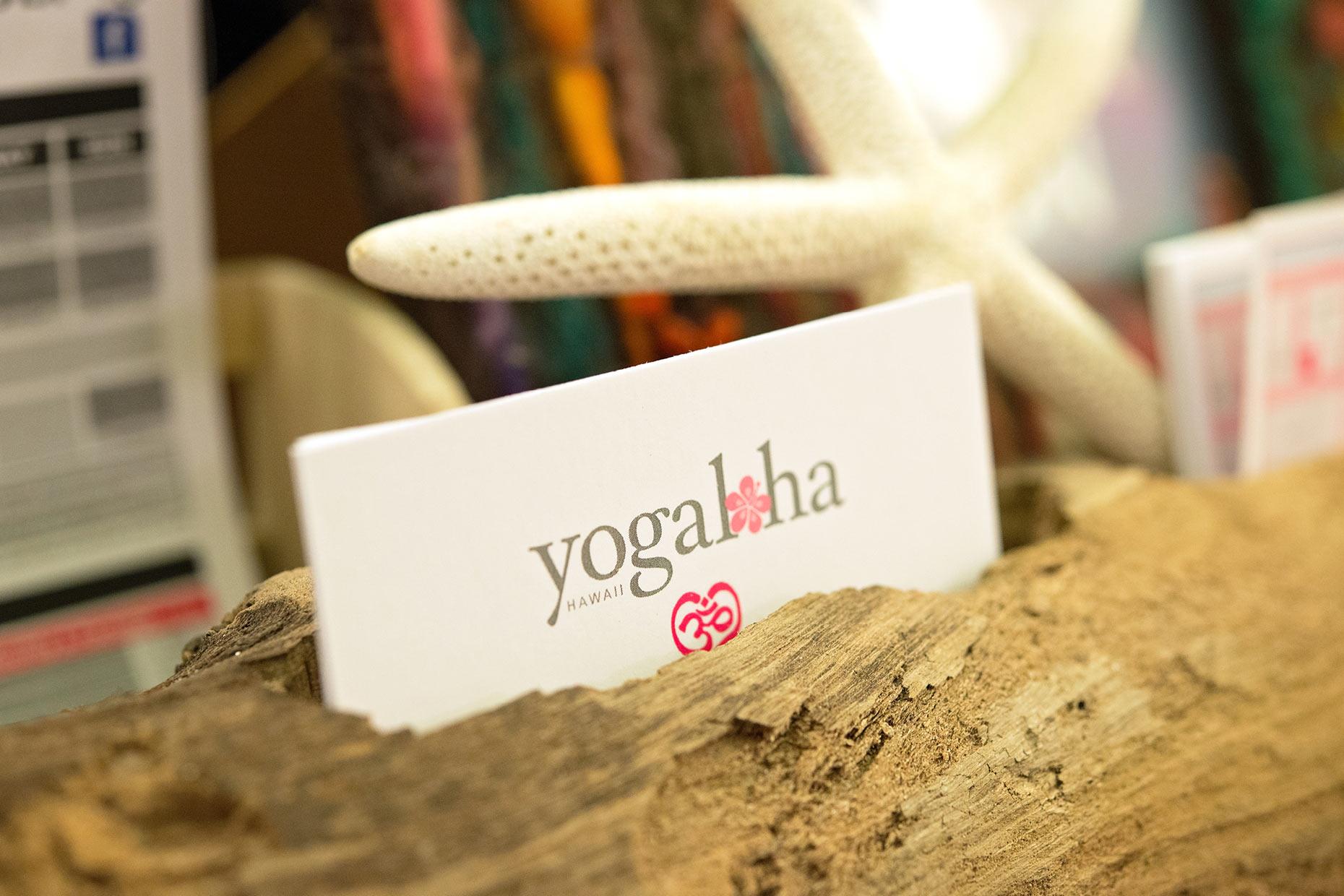 Yogaloha Hawaii card