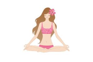 Yogaloha Hawaii logo girl