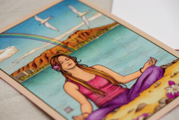 Thirty-six Views of Diamond Head No.4 Magic Island postcard