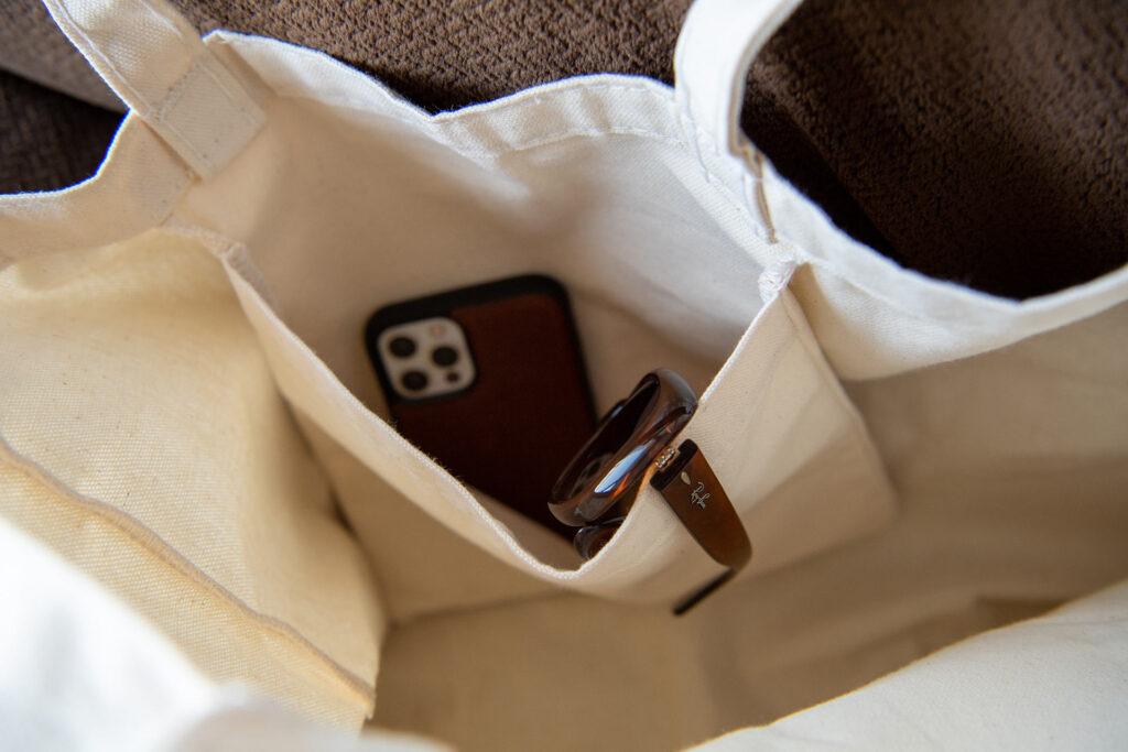 An inside pocket